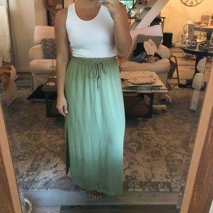 Sage green maxi skirt